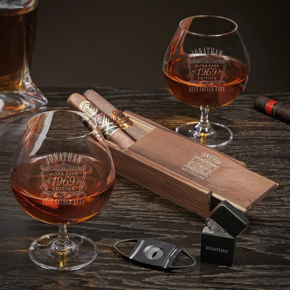 Ultra Rare Edition Custom Grand Cognac and Cigar Gifts