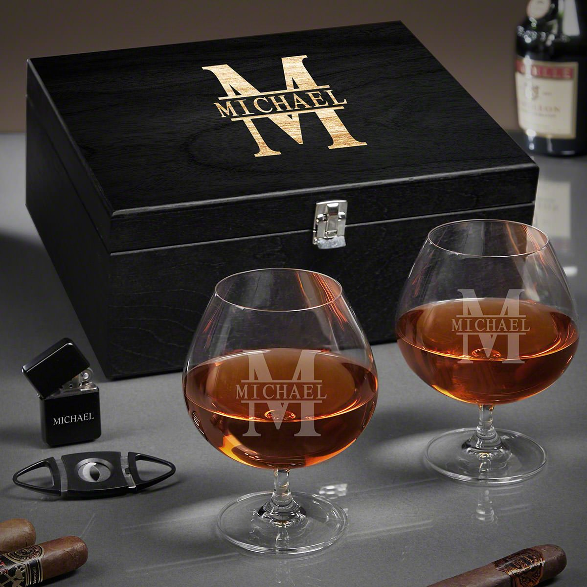 Oakmont Personalized Grand Cognac Gift Basket