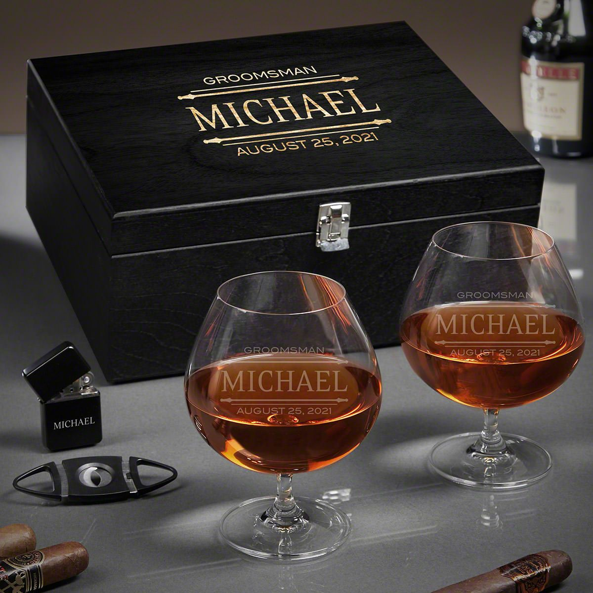 Stanford Personalized Grand Cognac Gifts for Older Men