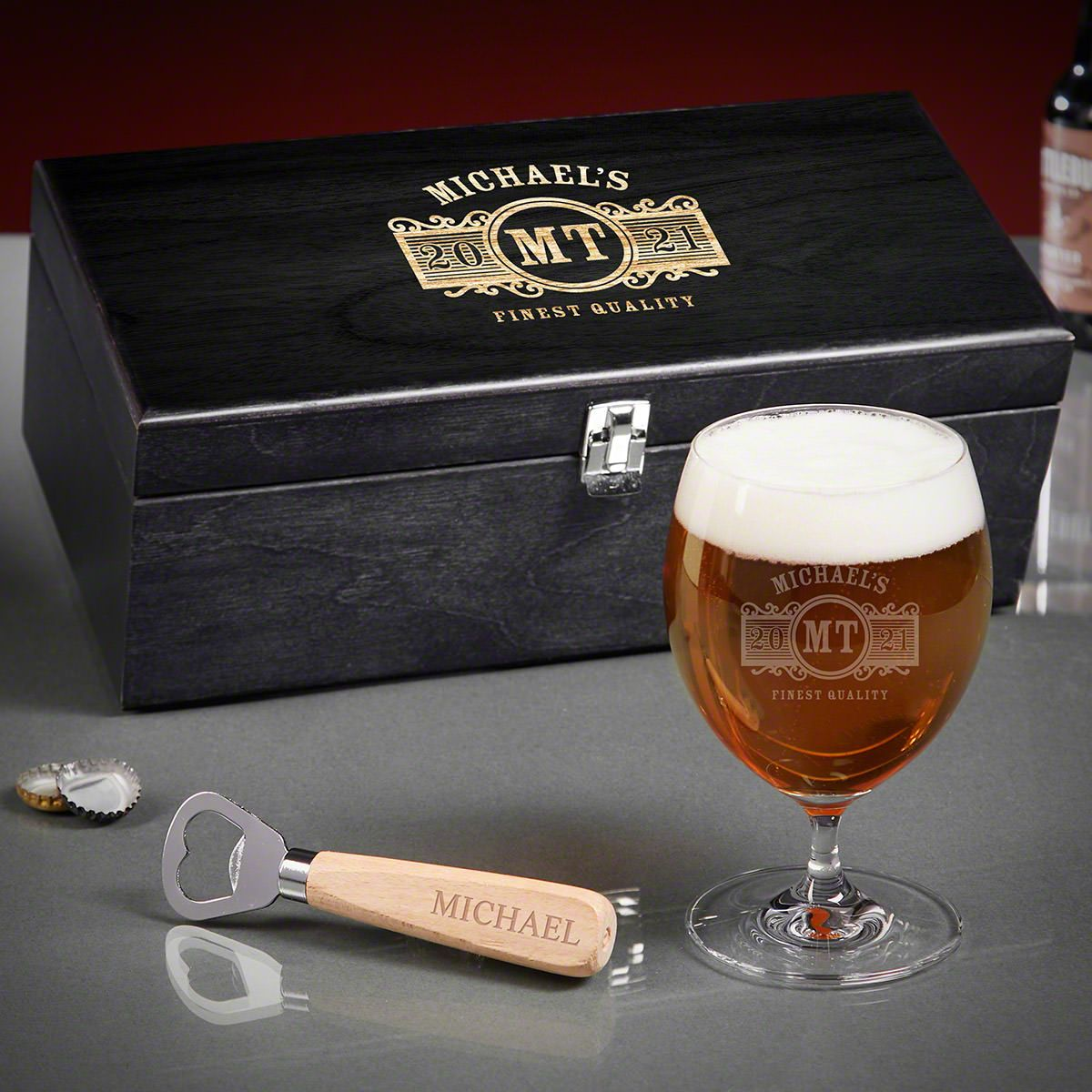 Marquee Personalized Grand Beer Gift Basket