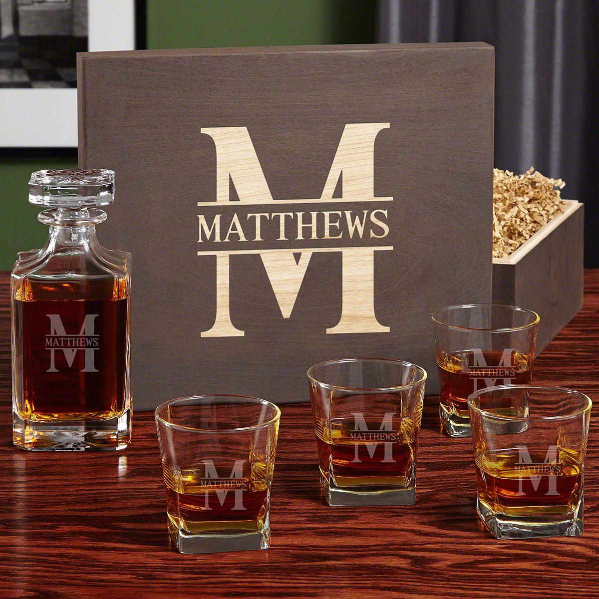 Oakmont Carson Personalized Whiskey Decanter Set
