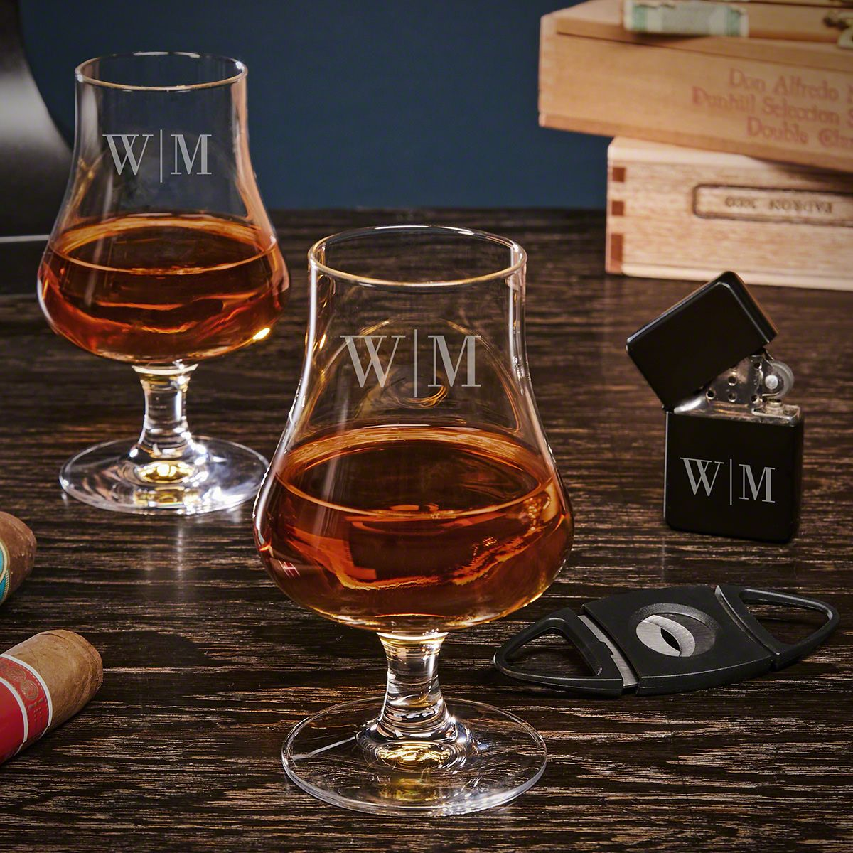 Quinton Personalized Cigar and Nosing Whiskey Gift Set