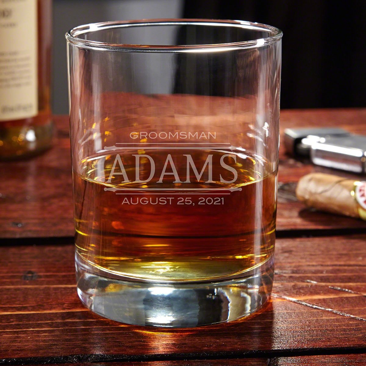 Stanford Engraved Eastham Old Fashioned Glass