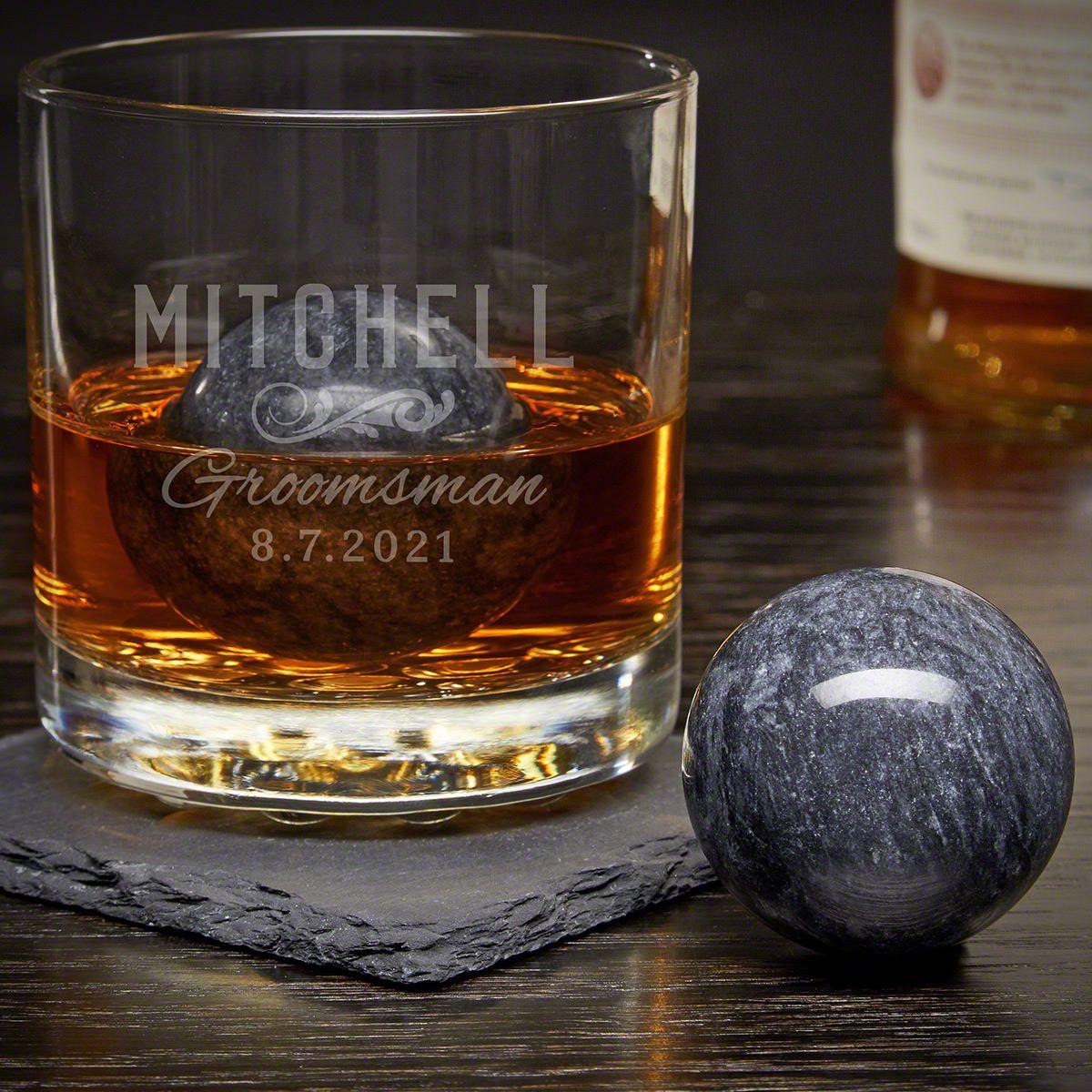 Classic Groomsman Engraved Rocks Glass Set Groomsmen Gifts