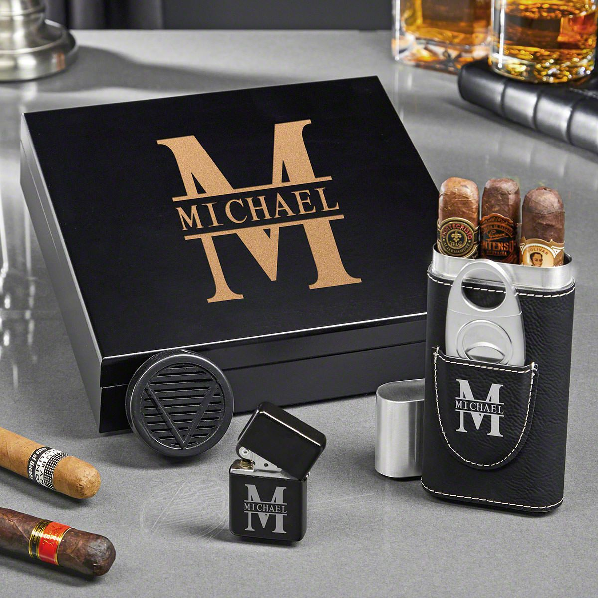 Oakmont Personalized Humidor Gifts for Cigar Lovers