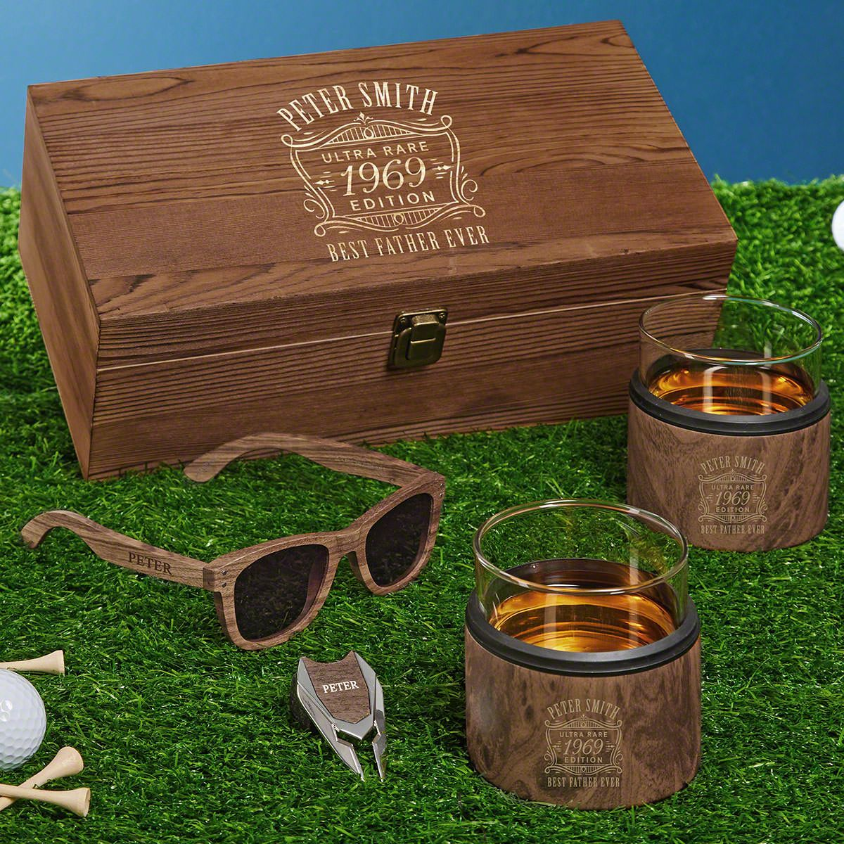 Ultra Rare Engraved Whiskey Kuzie Wood Gifts