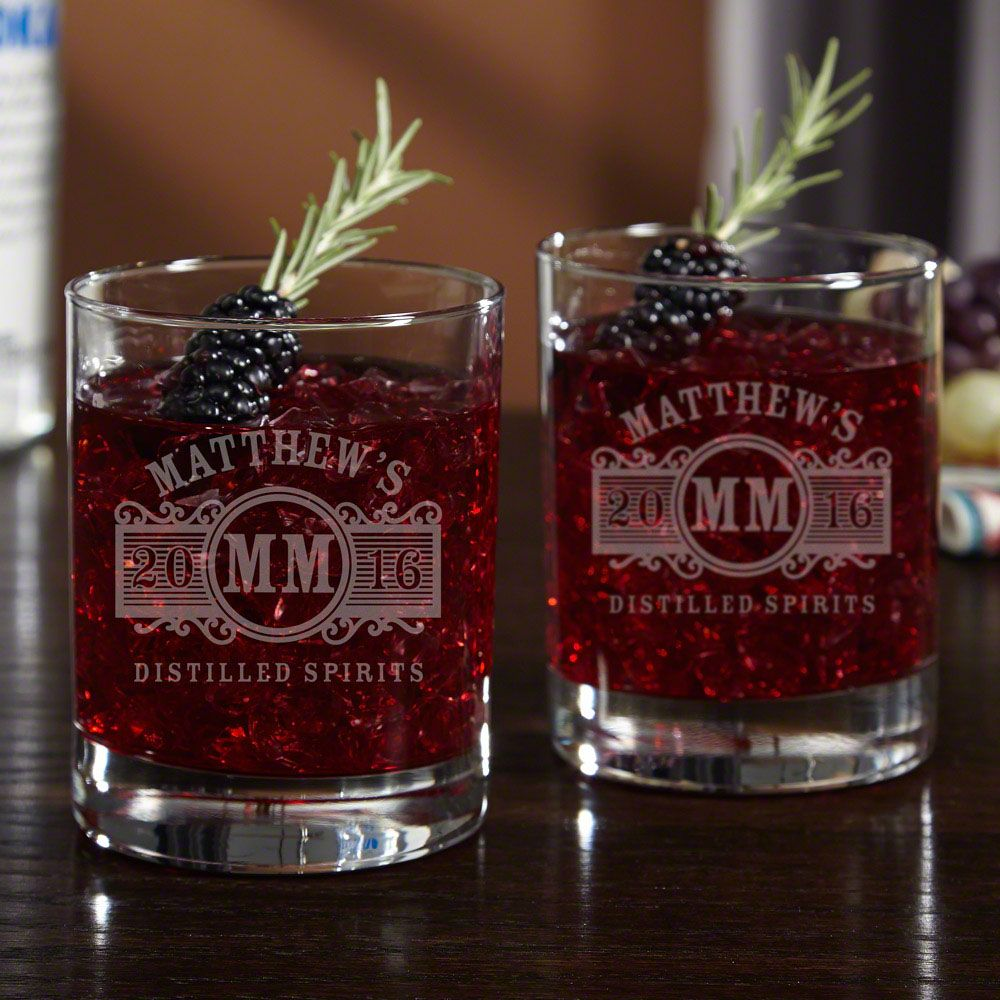 Marquee Personalized Cocktail Glasses Set of 2