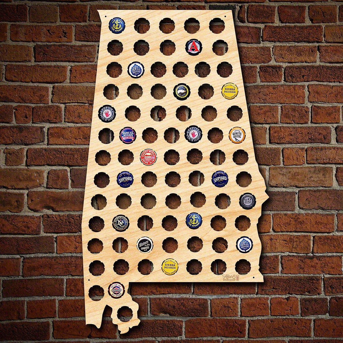 Alabama Beer Cap Map