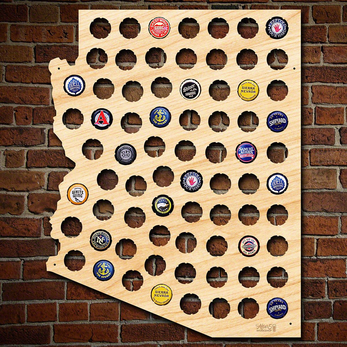 Arizona Beer Cap Map