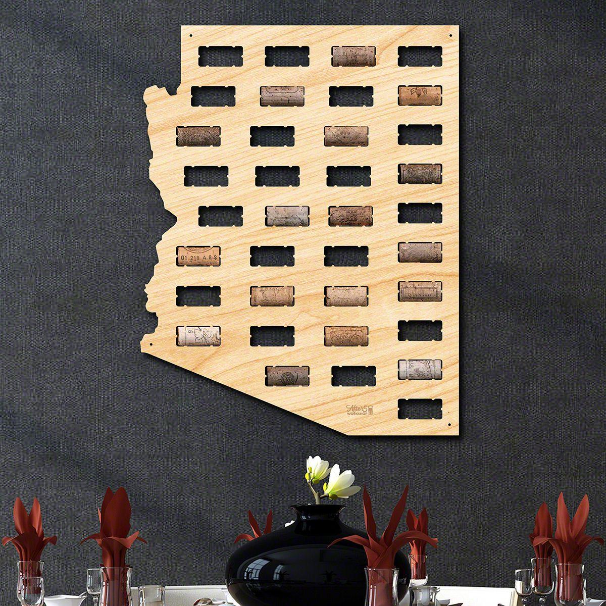 Arizona Wine Cork Map