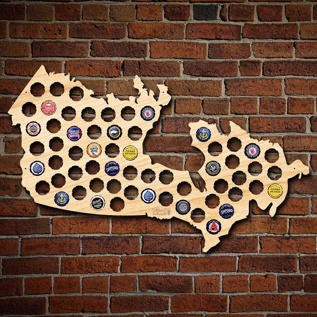 Canada Beer Map Canada Beer Cap Map