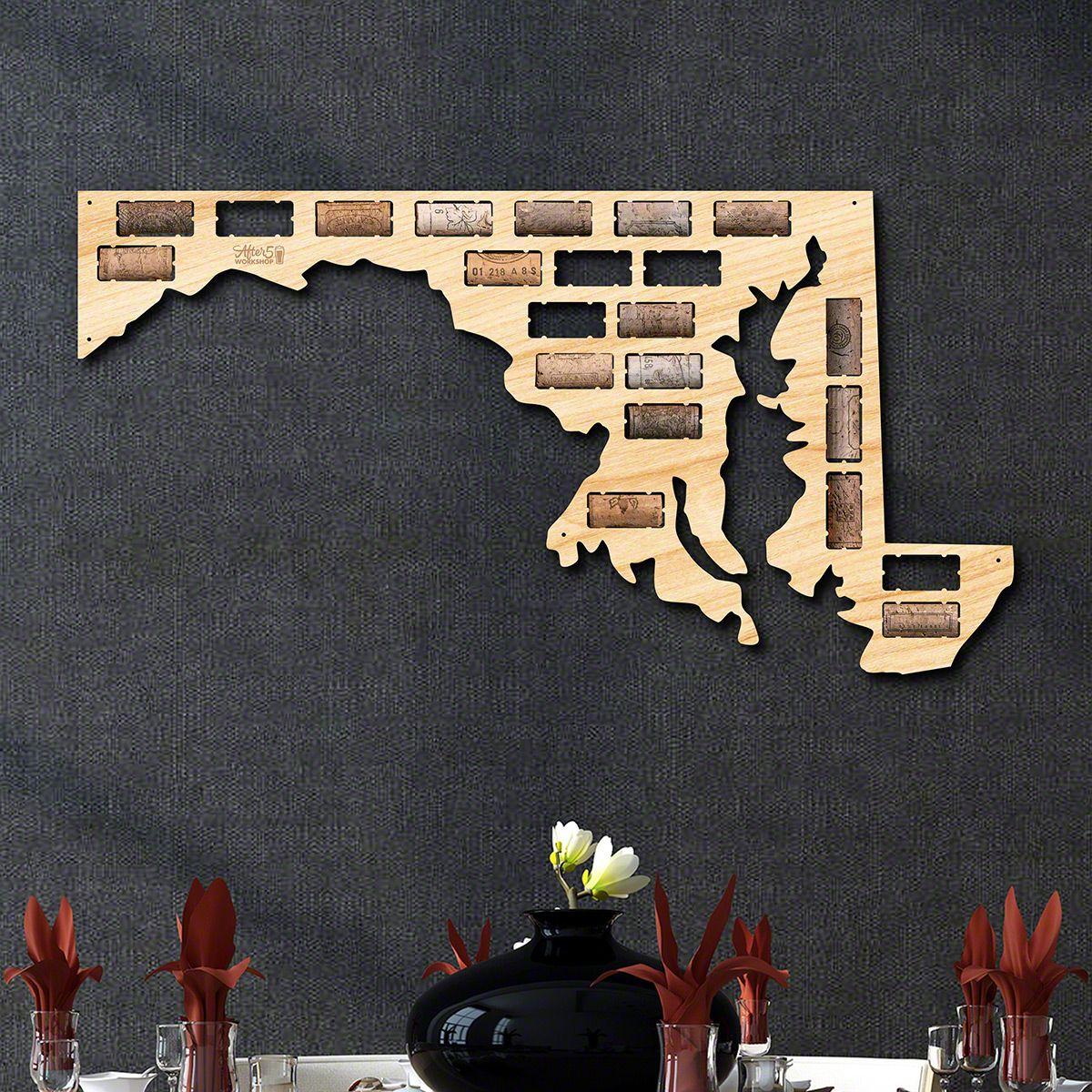 Maryland Wine Cork Map