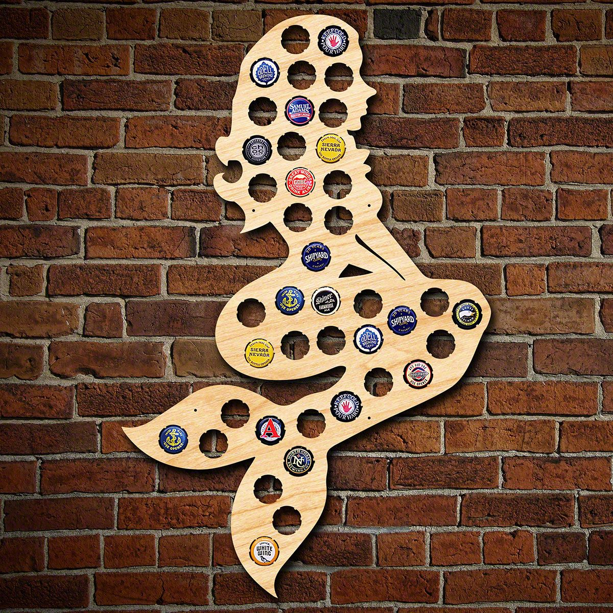 Enchanting Mermaid Beer Cap Map