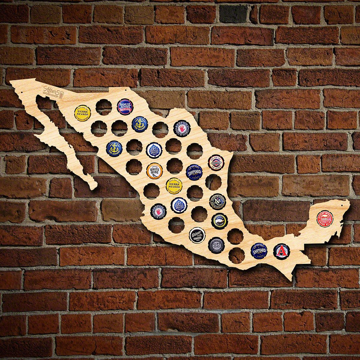 Beer Cap Map of Mexico