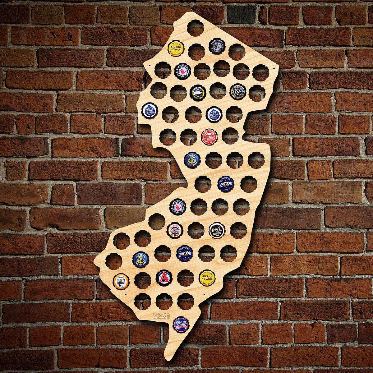 New Jersey Beer Cap Map
