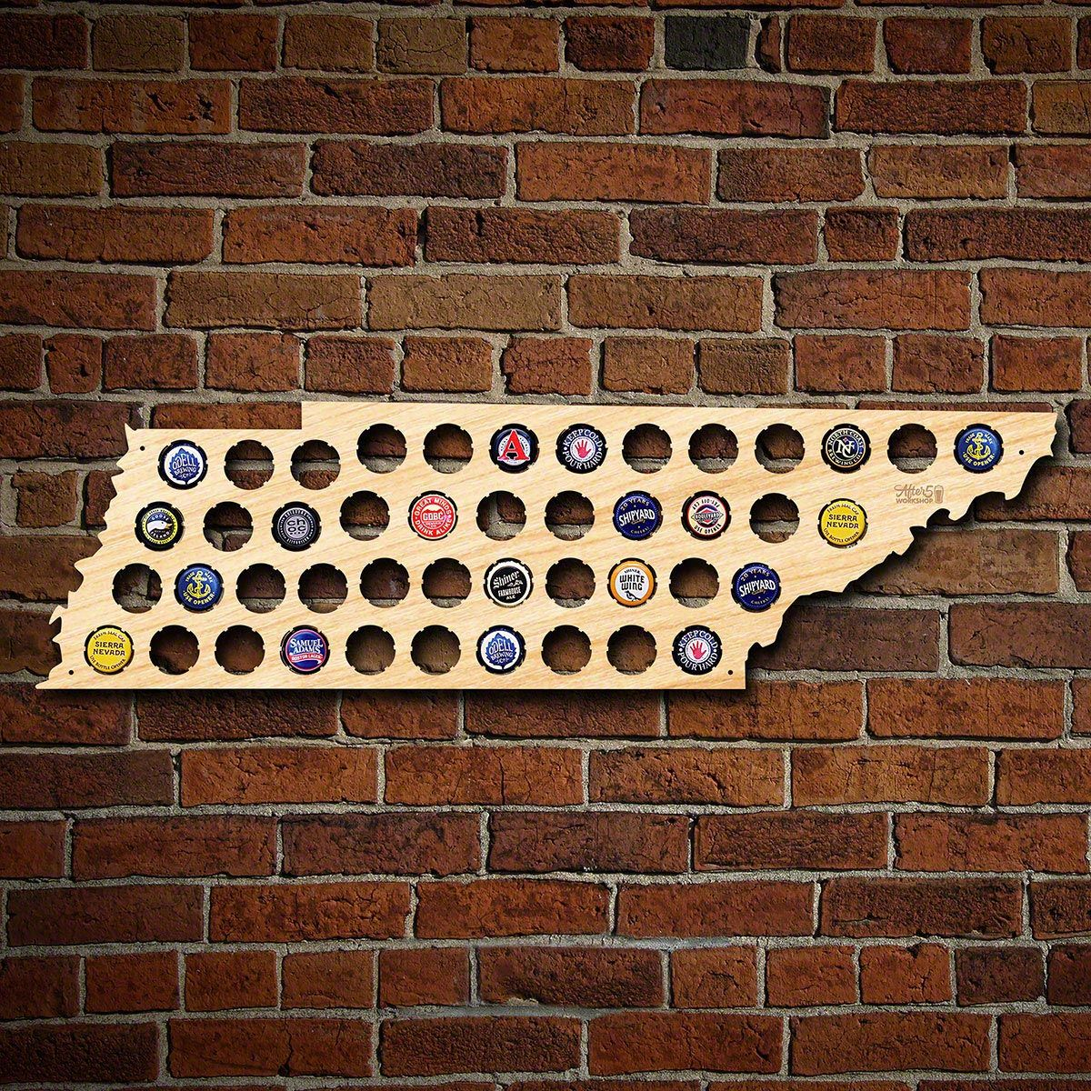 Tennessee Beer Cap Map