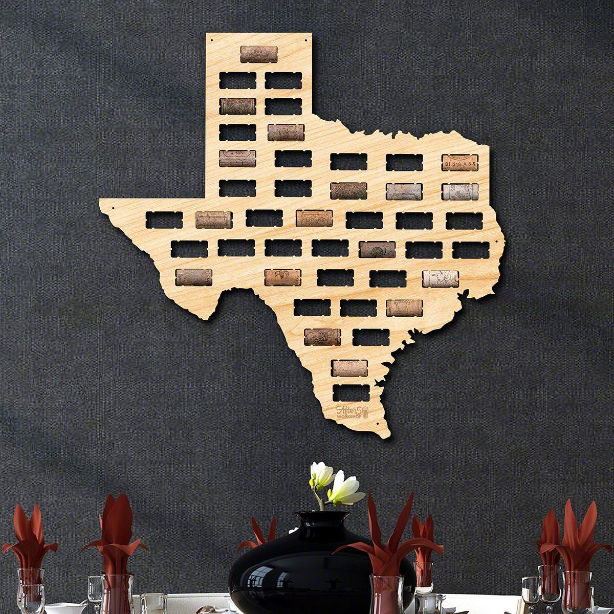 Texas Wine Cork Map