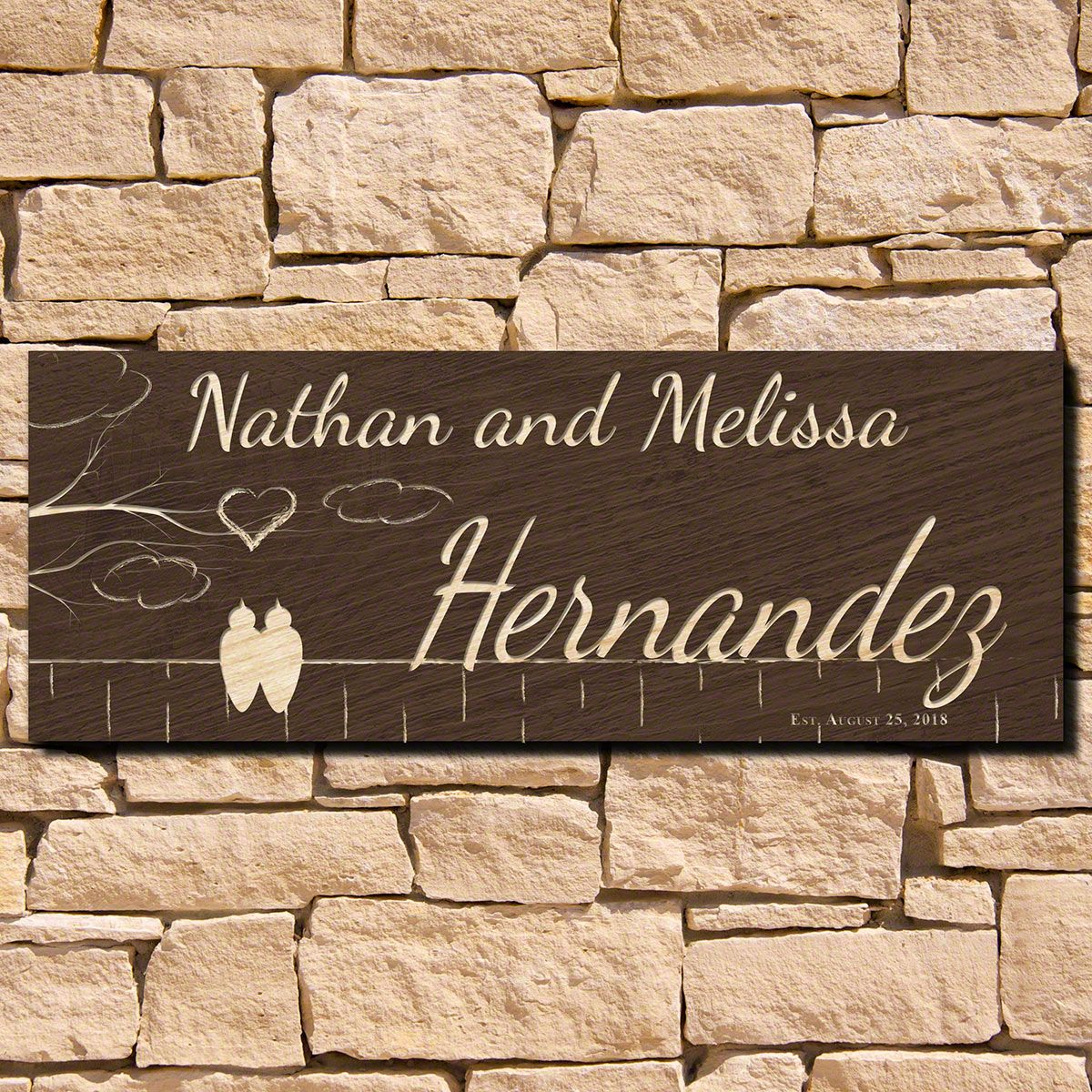 Birds of a Feather Custom Wall Decor Sign (Signature Series)