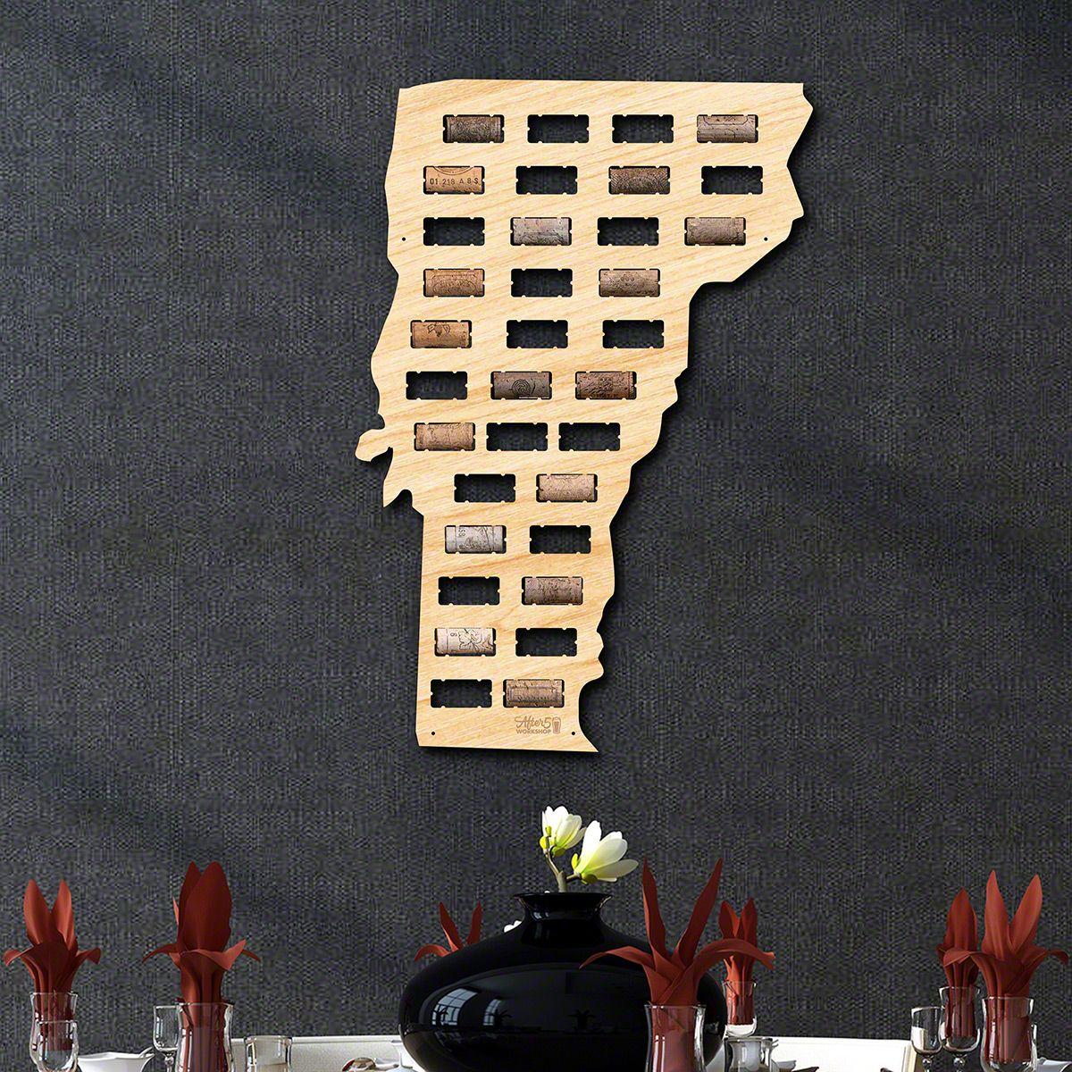 Vermont Wine Cork Map