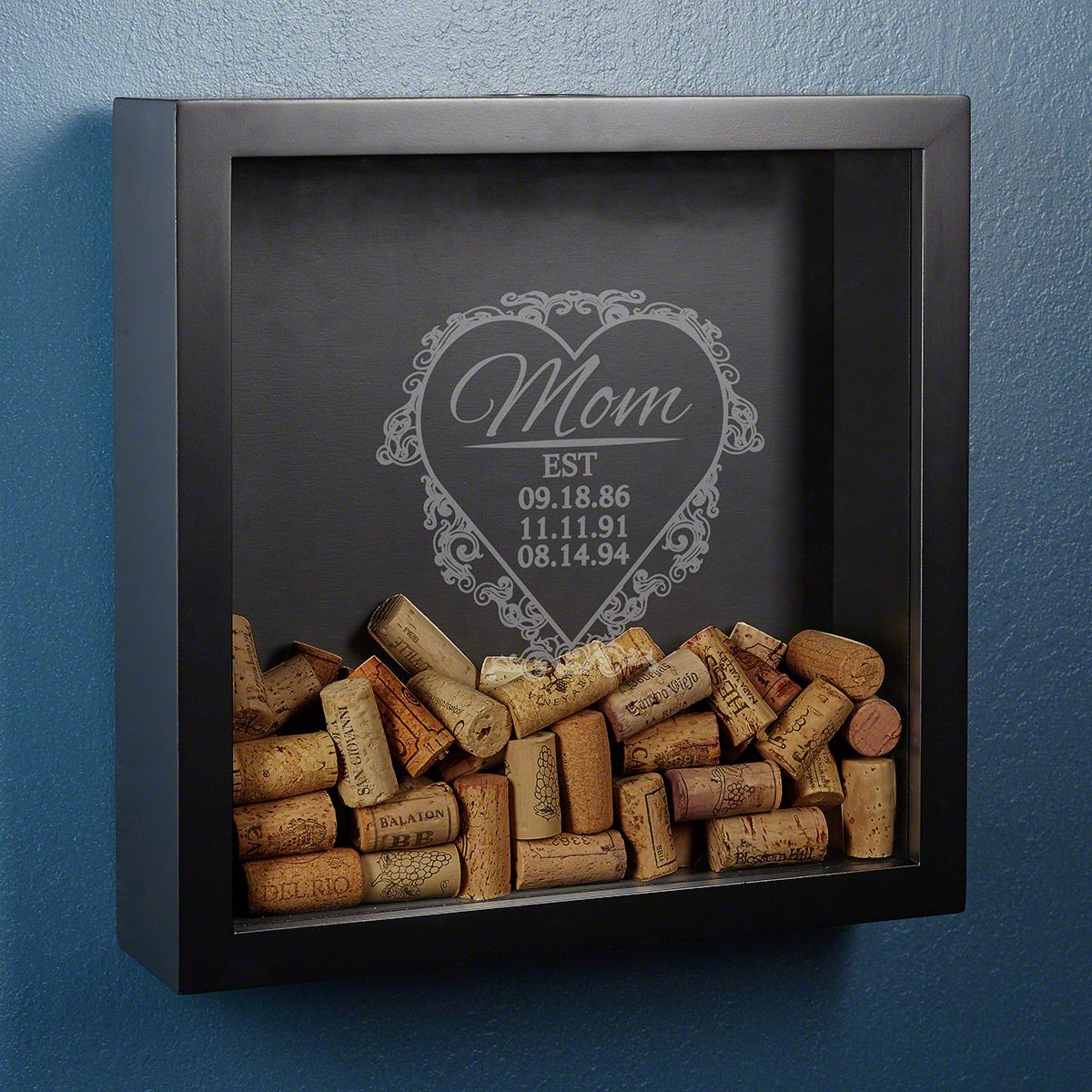 Love for Mom Wine Cork Holder Shadow Box