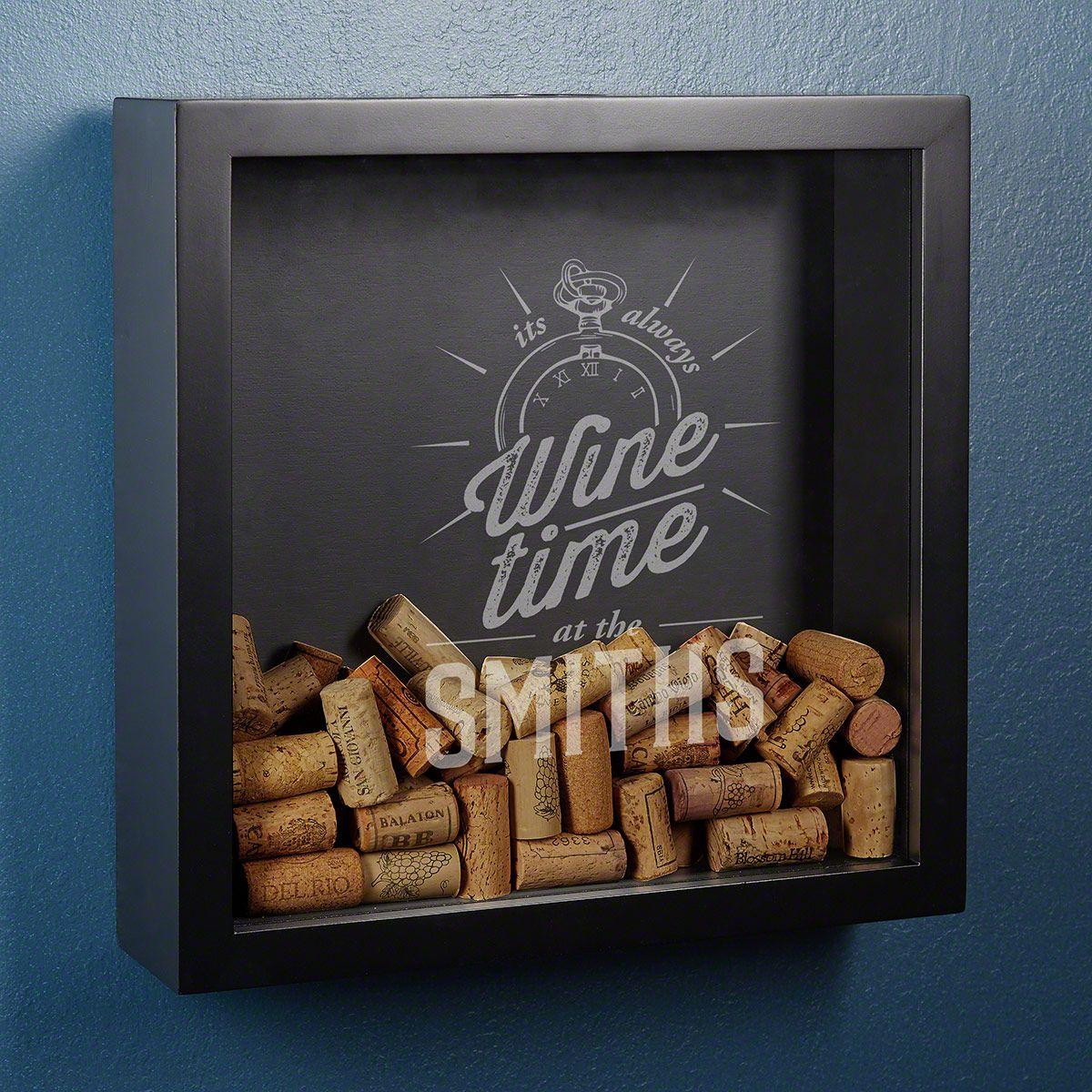 Always Wine Time Custom Shadow Box