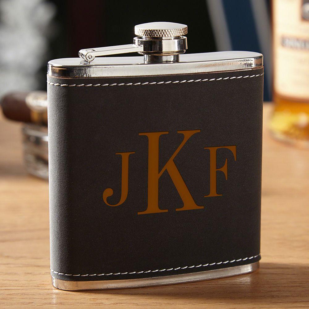 Hawthorne Monogrammed Drinking Flask