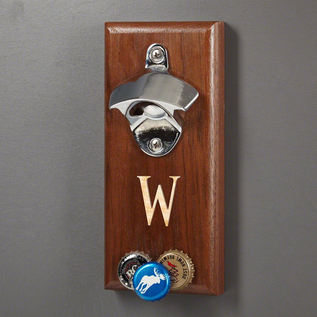 Baxter Magnetic Bottle Opener with Cap Catcher (Engravable)