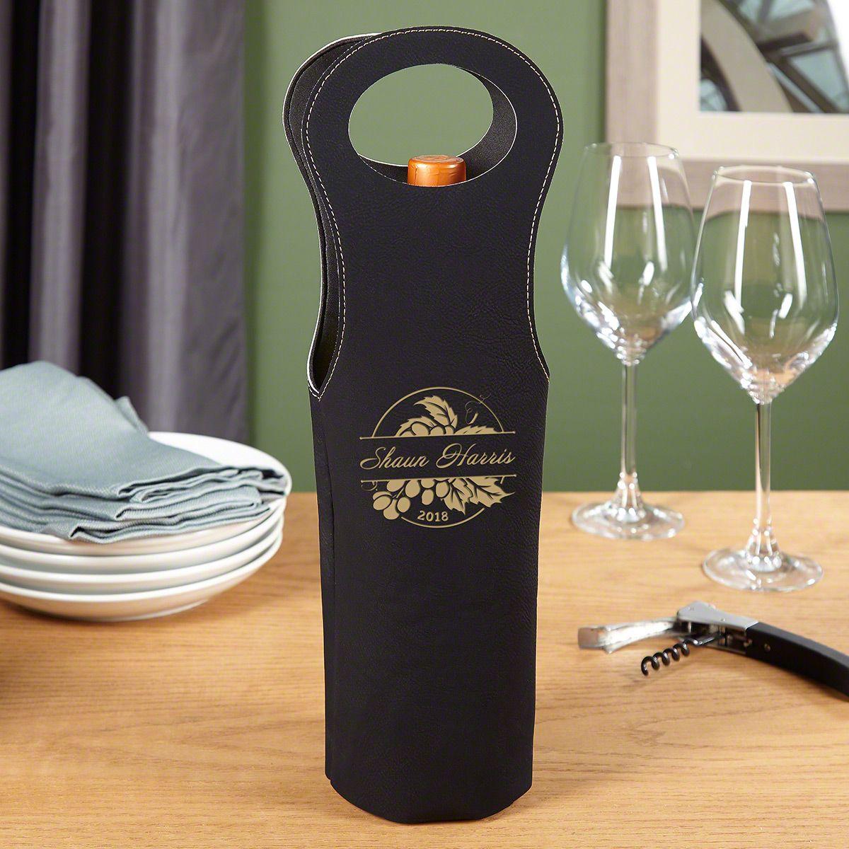 Rhone Valley Personalized Wine Bottle Holder