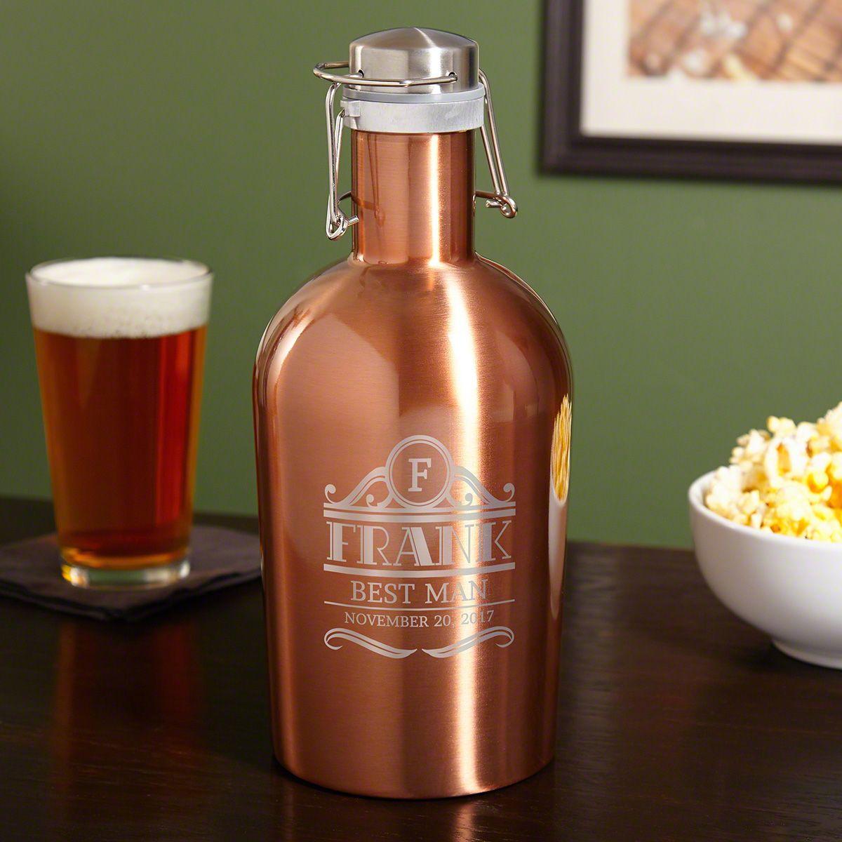 Rockefeller Copper-Tone Stainless Steel Beer Growler