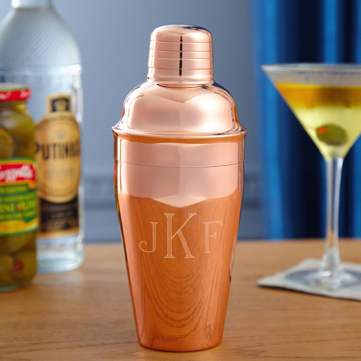 Lyon Engraved Copper Cocktail Shaker