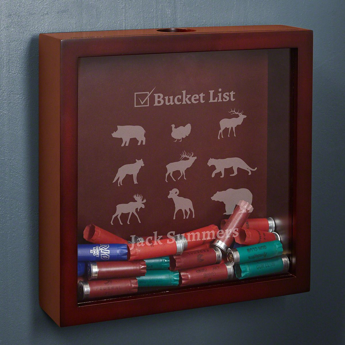 Bucket List Custom Shadow Box for Hunters