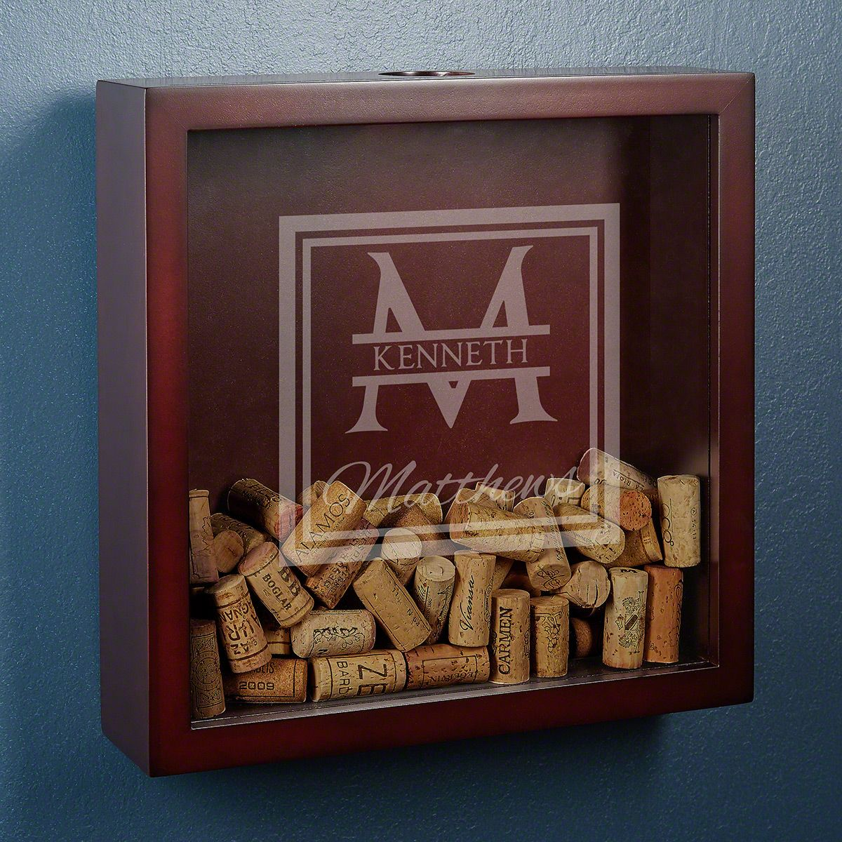 Oakhill Engraved Shadow Box for Wine Corks