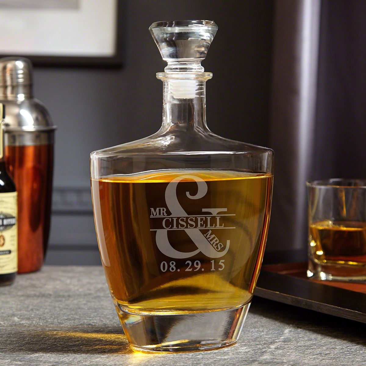 Love and Marriage Personalized Wallace Whiskey Decanter