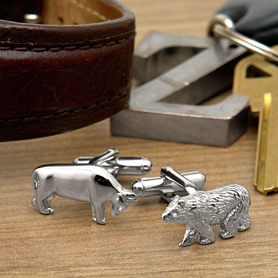 Bull and Bear Designer Cufflinks