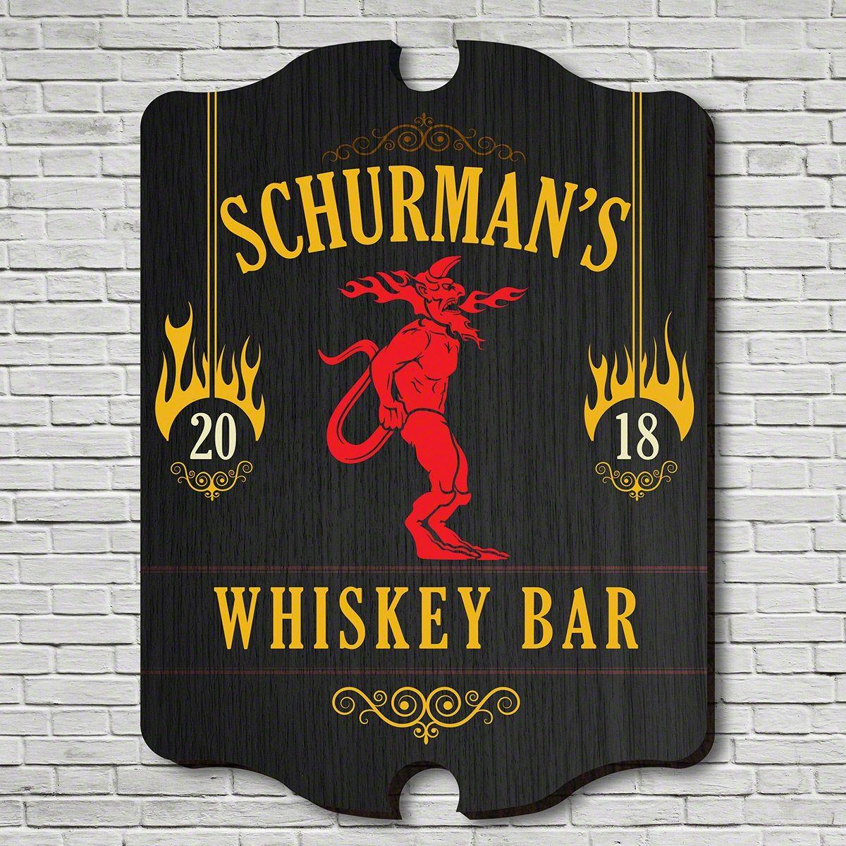 Fire Balls Whiskey Bar Custom Sign