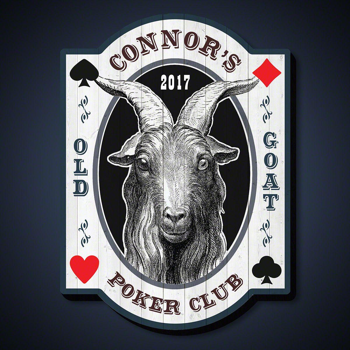 The Old Goat Poker Room Custom Sign