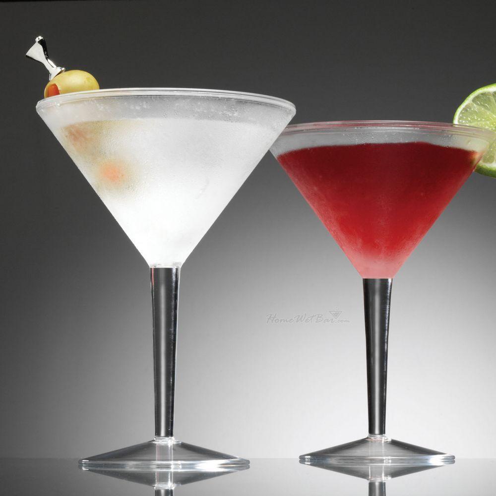 Iced Martini Glasses, Set of 2