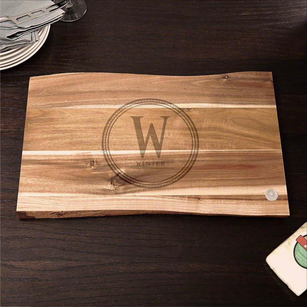 In the Raw Personalized Family Brand Cutting Board, 11x17