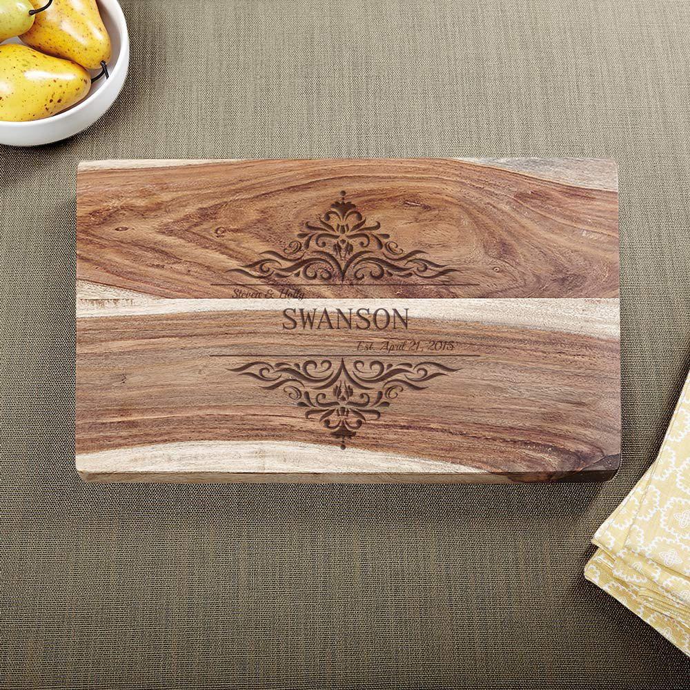 Family Home Exotic Hardwood Custom Cutting Board
