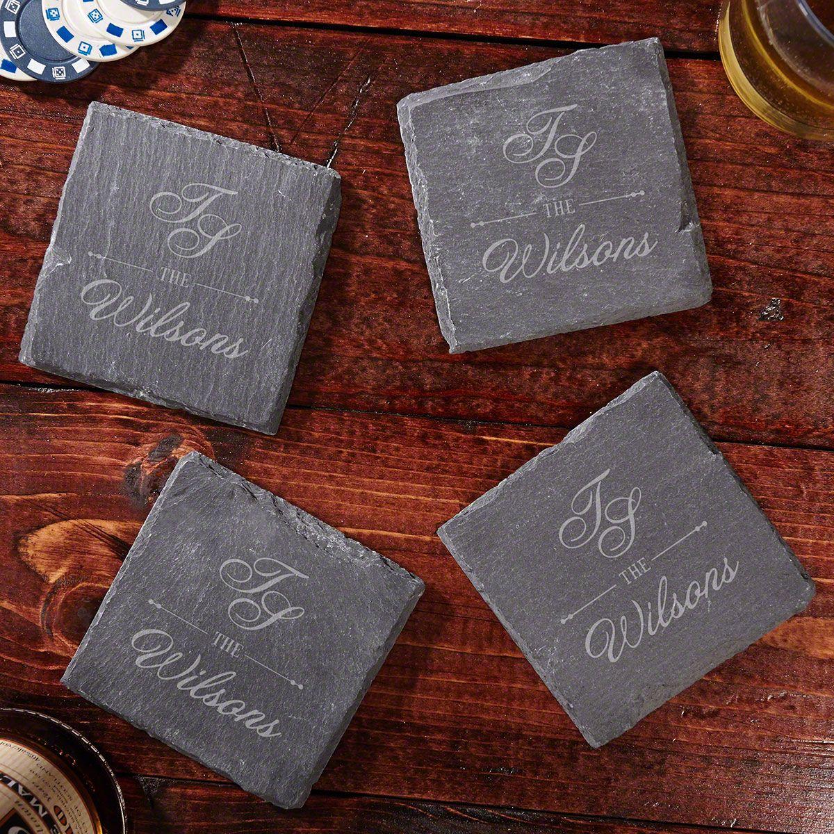 Sheridan Personalized Slate Coasters