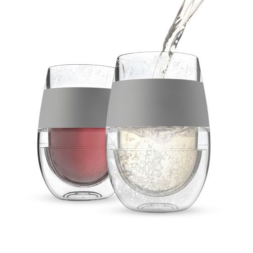 HOST FREEZE Perfectly Chilled Wine Glass, Set of 2