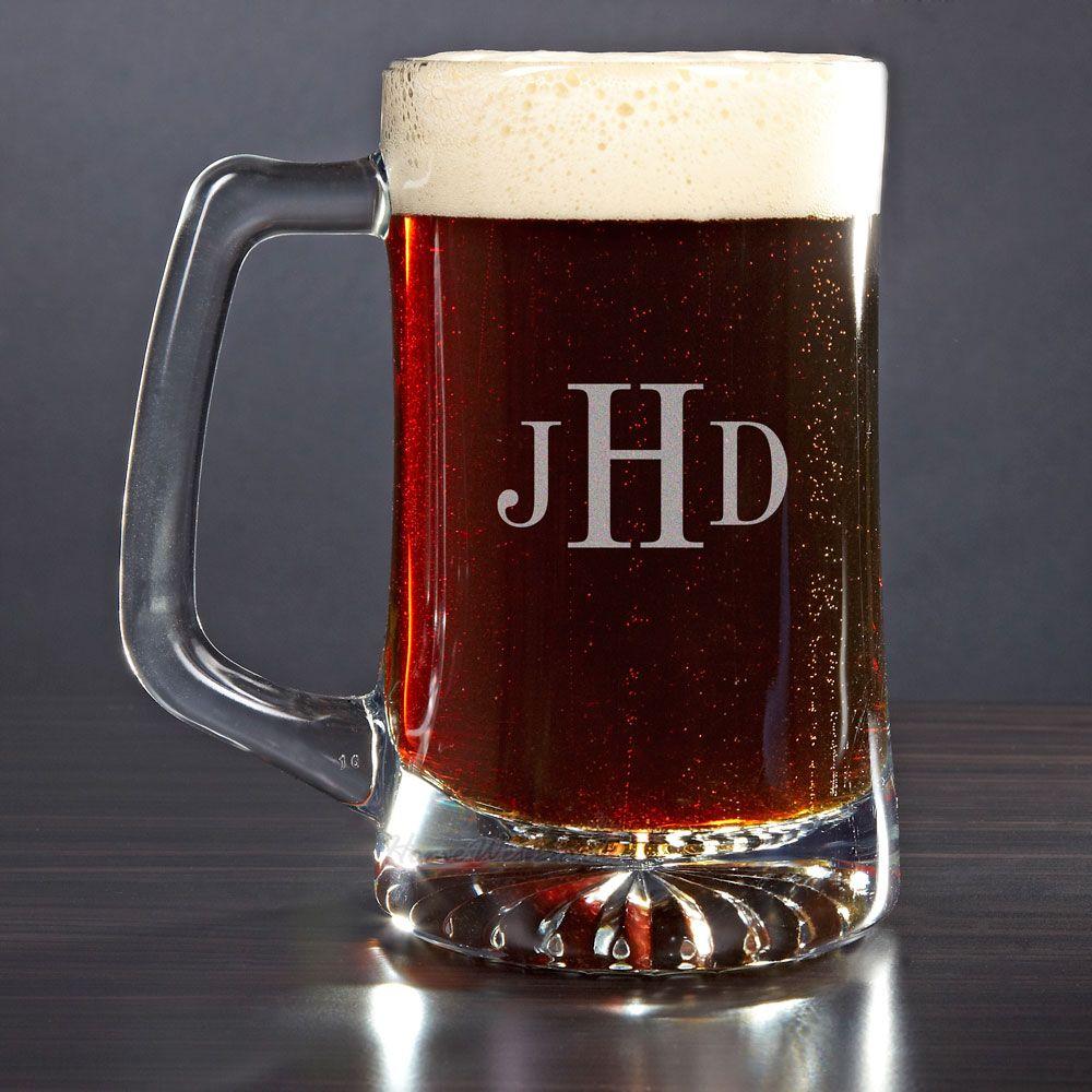 Monogrammed Beer Mug 25oz
