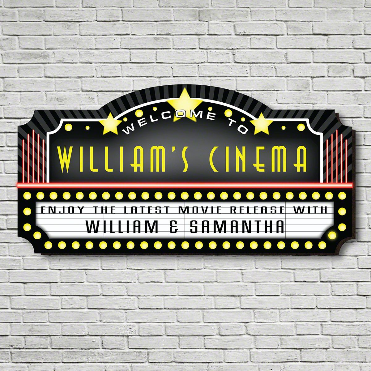 Welcome to the Movies Personalized Sign