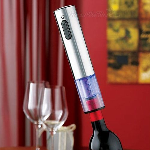 One Touch Blue-Lit Stainless Steel Electric Corkscrew