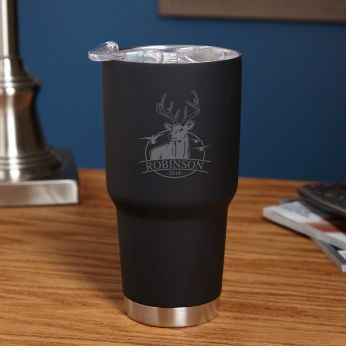 52551152c61 Bird and Buck Hunter 30 oz Double-Wall Personalized Tumbler for Hunters