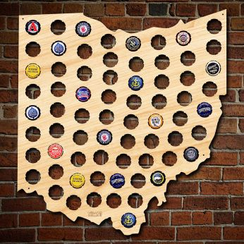Beer Cap Map Of Your Home State - Michigan bottle cap map