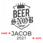 Beer Snob Personalized Growler and Travel Cup
