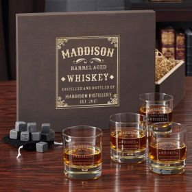 Bryne Stillhouse Whiskey Set with Engraved Wood Gift Box