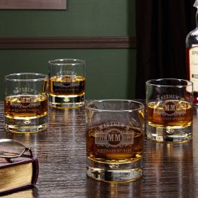 Marquee Custom Whiskey Glasses, Set of 4