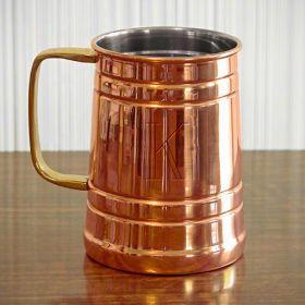 Koln Engraved Copper Beer Tankard